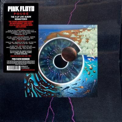 Pink Floyd, P.U.L.S.E (The 4-LP Live Album Remastered On Heavyweight 180 Gram Vinyl Plus 52-Page Hardback Book And Slipcase) (1995) (4 LP Box set)